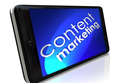 Content Marketing Words Smart Cell Phone Mobile Business Communi